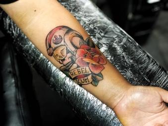 REBEL SCUM (Star Wars) Forearm Tattoo