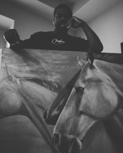 acryllic-horses